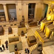 Interior view of the Egyptian Museum, Cairo, Egypt