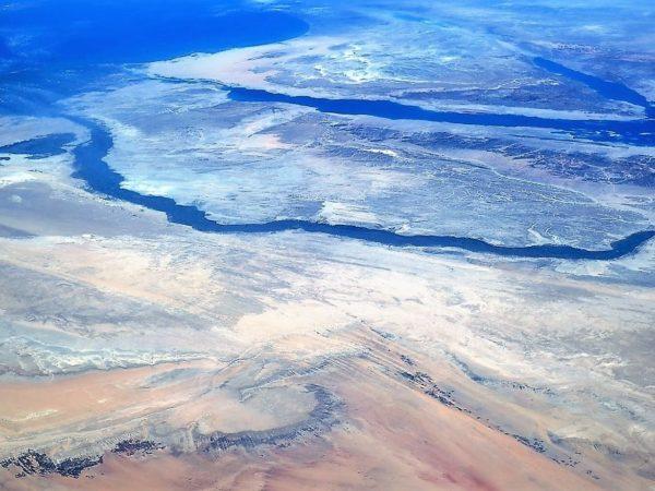 Egito, o Rio Nilo e O Mar Vermelho com O Mediterrâneo