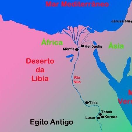 Terra do Egito, Mapa