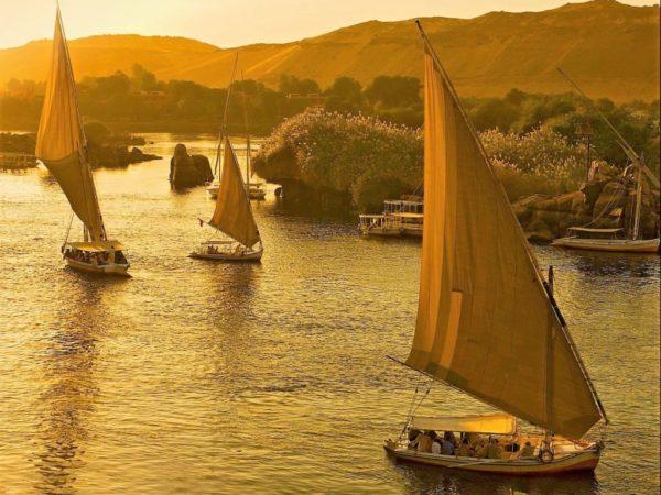 Felucas em Aswan