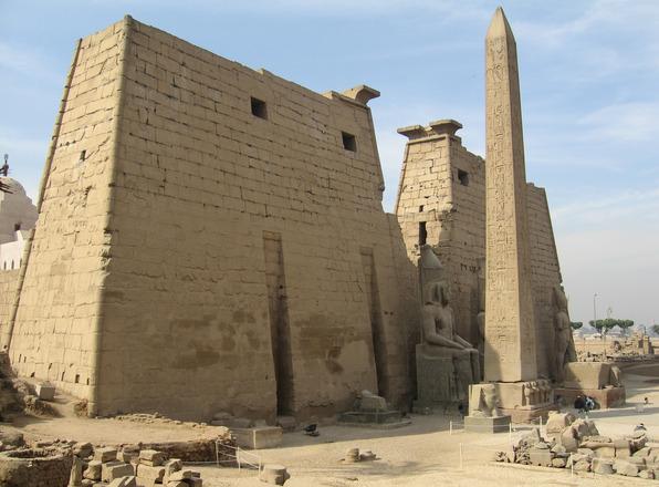 Templo de Luxor,fachada