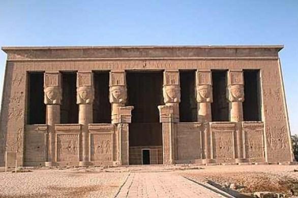 templo de hathor em dandara templos do egito antigo