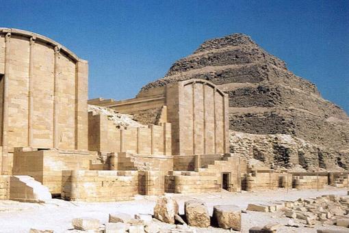 Pátio de hebsed em Sakkara