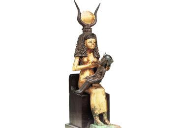 Estatua de Isis Amamentando a Hórus
